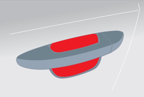 Griffmulde 1 Paar links+rechts, transparent für Alfa Giulia 5-türer (ab 06/16) Typ 952